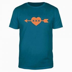 GDMG Herz Shirt Blau / Orange