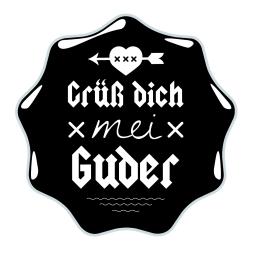 Grüß dich mei Guder Logo Sticker