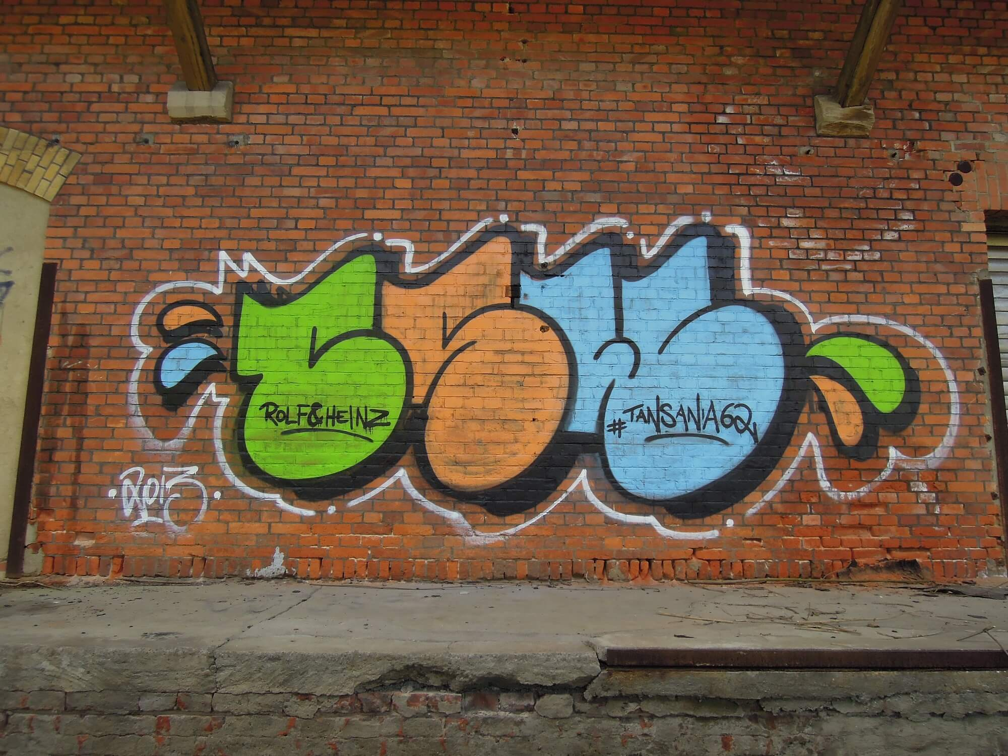 Güterbahnhof Coburg. CSW Piece 2. Kunst und so - Grüß dich mei Guder. Street Art. Graffiti Coburg. JDE TDN CSW GDMG!