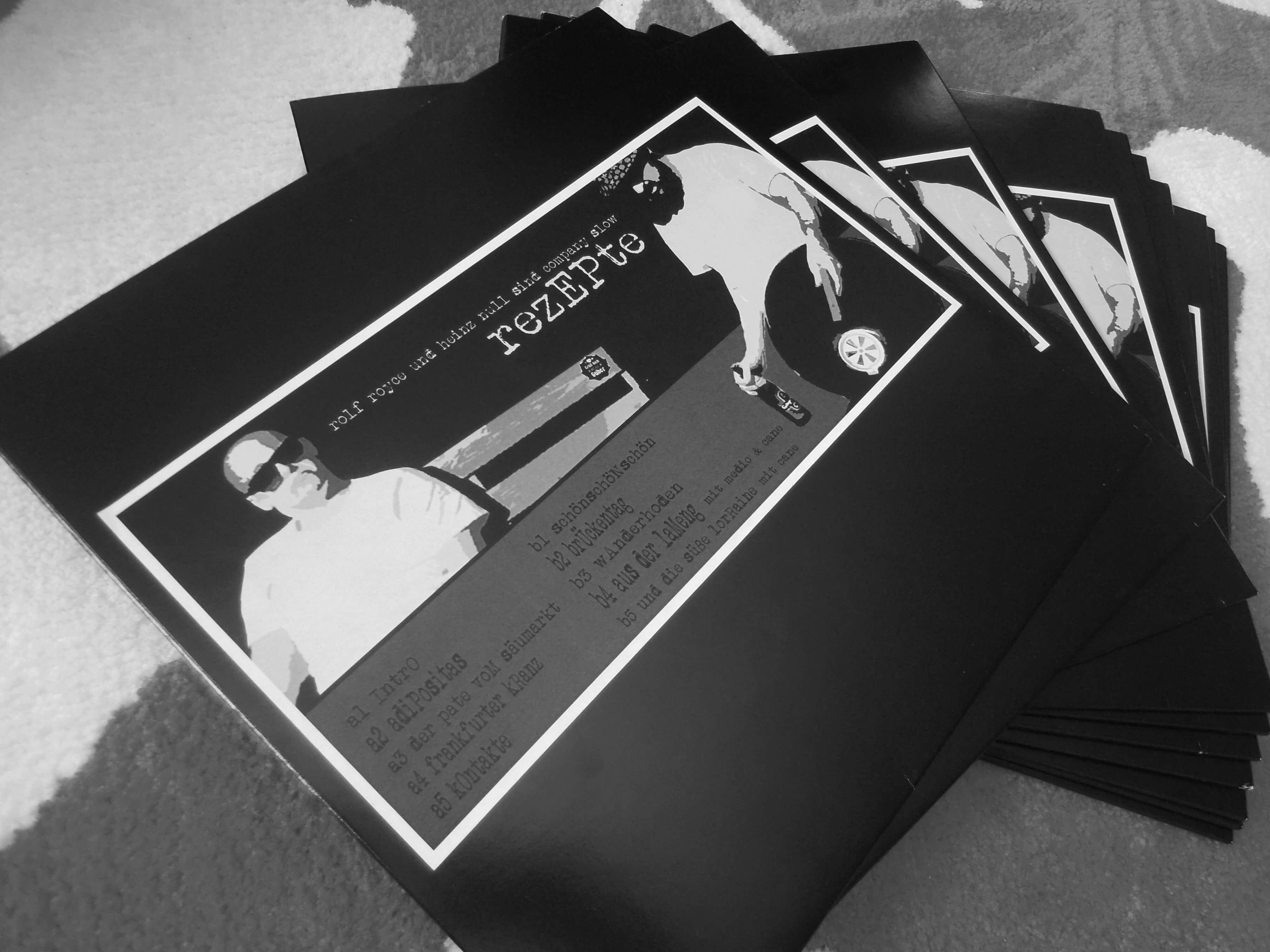 CSW Vinyl Front Cover. Company Slow. Bratwurst Rap. Hip Hop aus Coburg.
