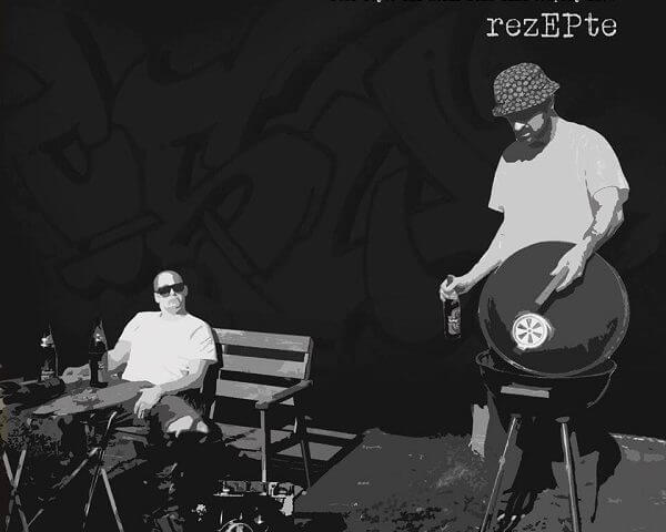 rezEPte CD - Front Cover. Company Slow. Bratwurst Rap. Hip Hop aus Coburg.