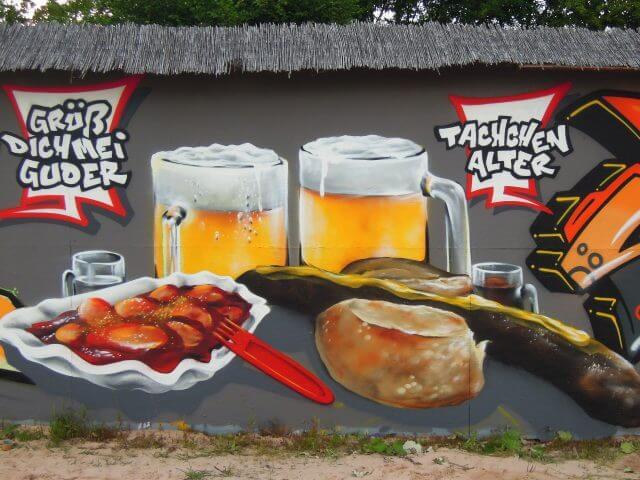 When wurst comes to wurst. Kunst und so - Grüß dich mei Guder. Street Art. Graffiti Coburg. JDE TDN CSW GDMG!