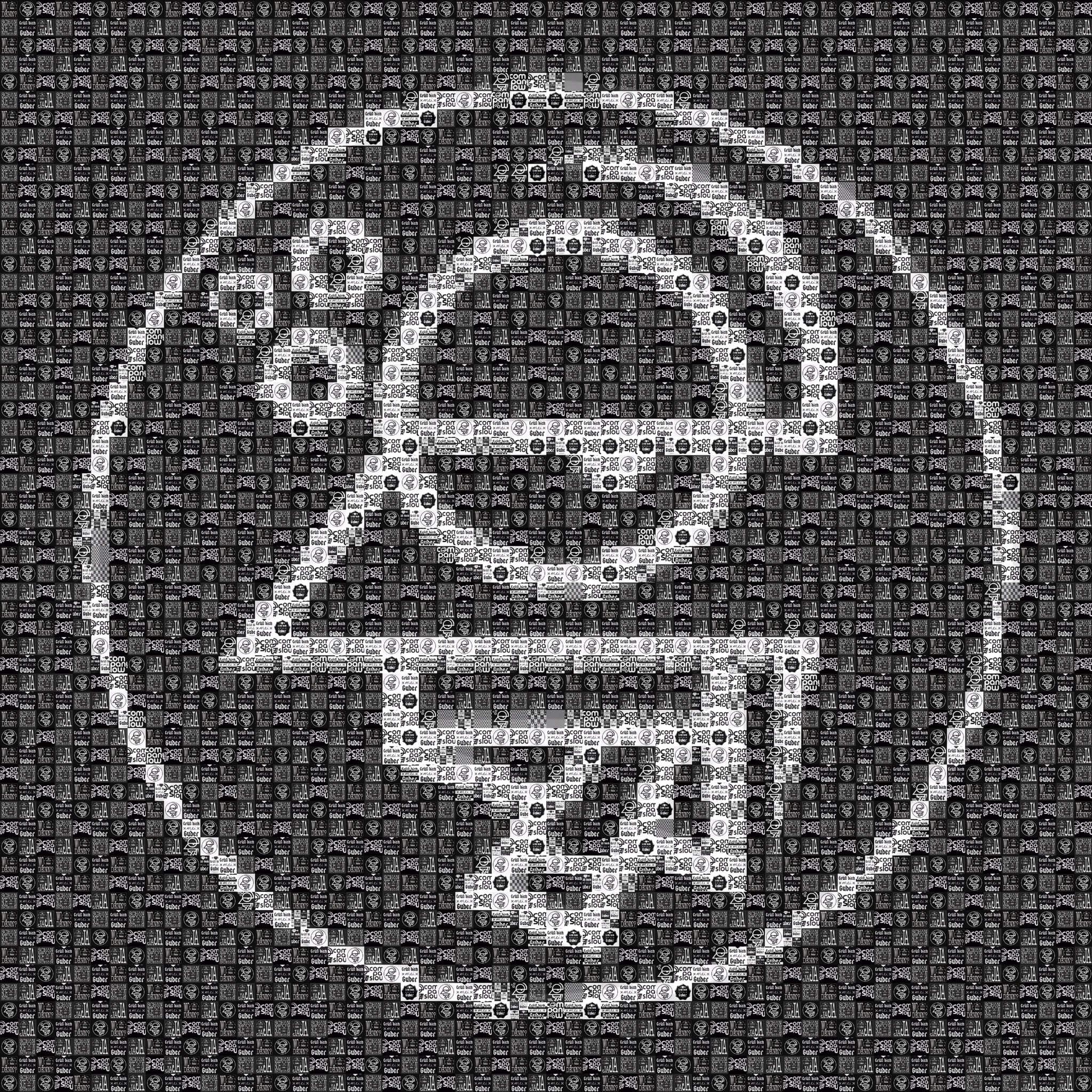 "Pixel Art, Mosaik, Sticker, ""Company Slow"" Logo schwarz"