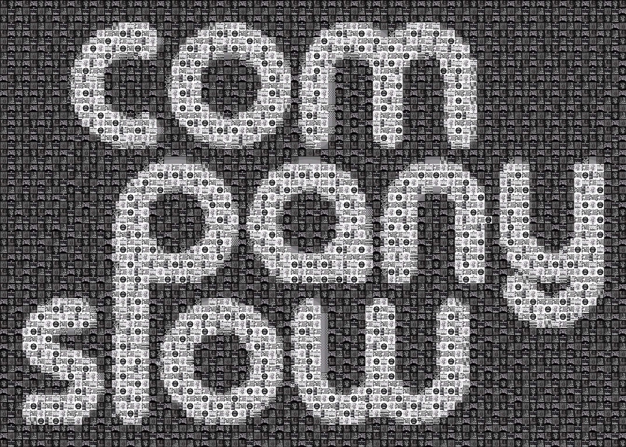 "Pixel Art, Mosaik, Sticker, ""Company Slow"" Schrift"