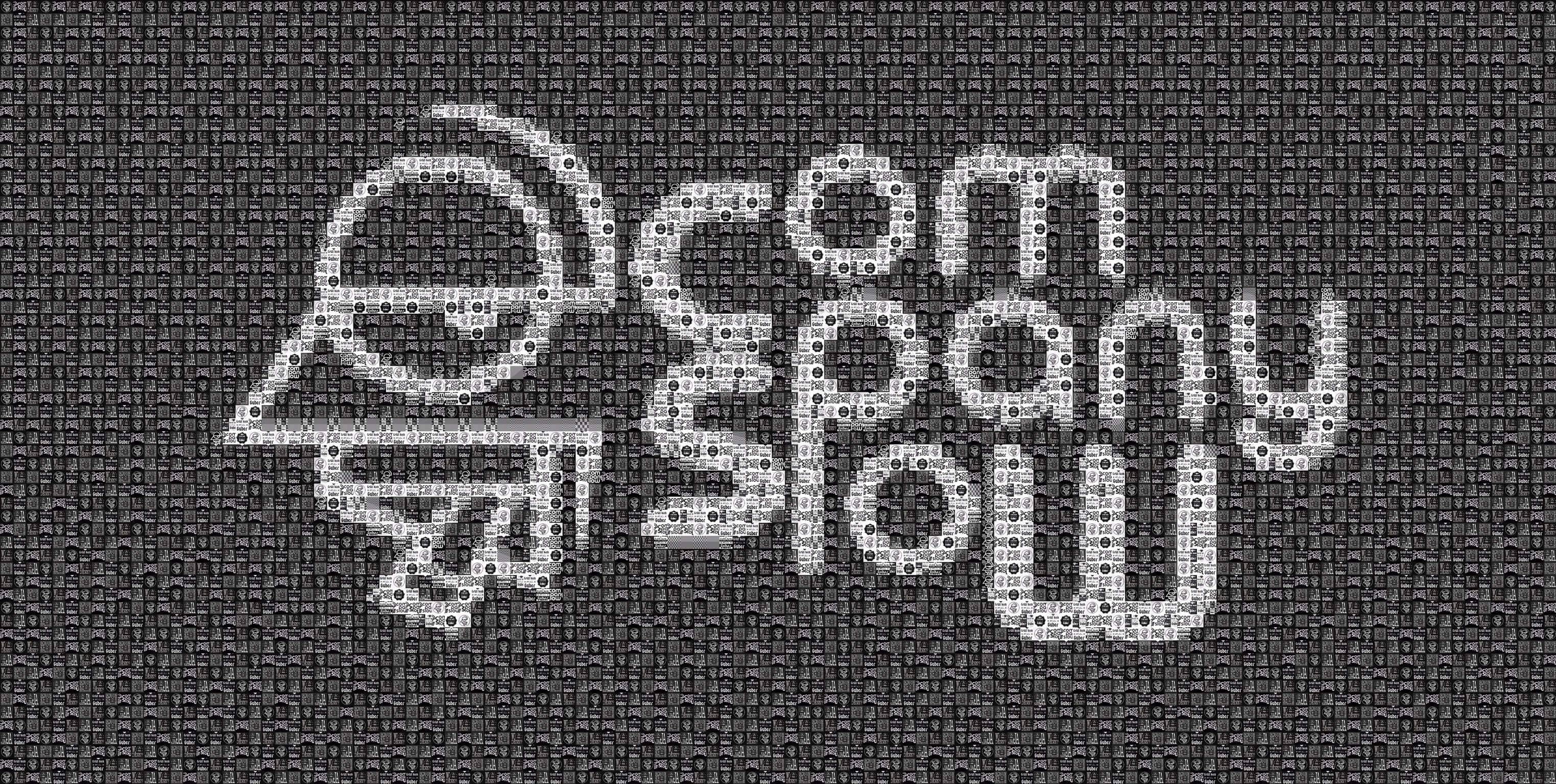"Pixel Art, Mosaik, Sticker, ""Company Slow"" Schrift + Logo"