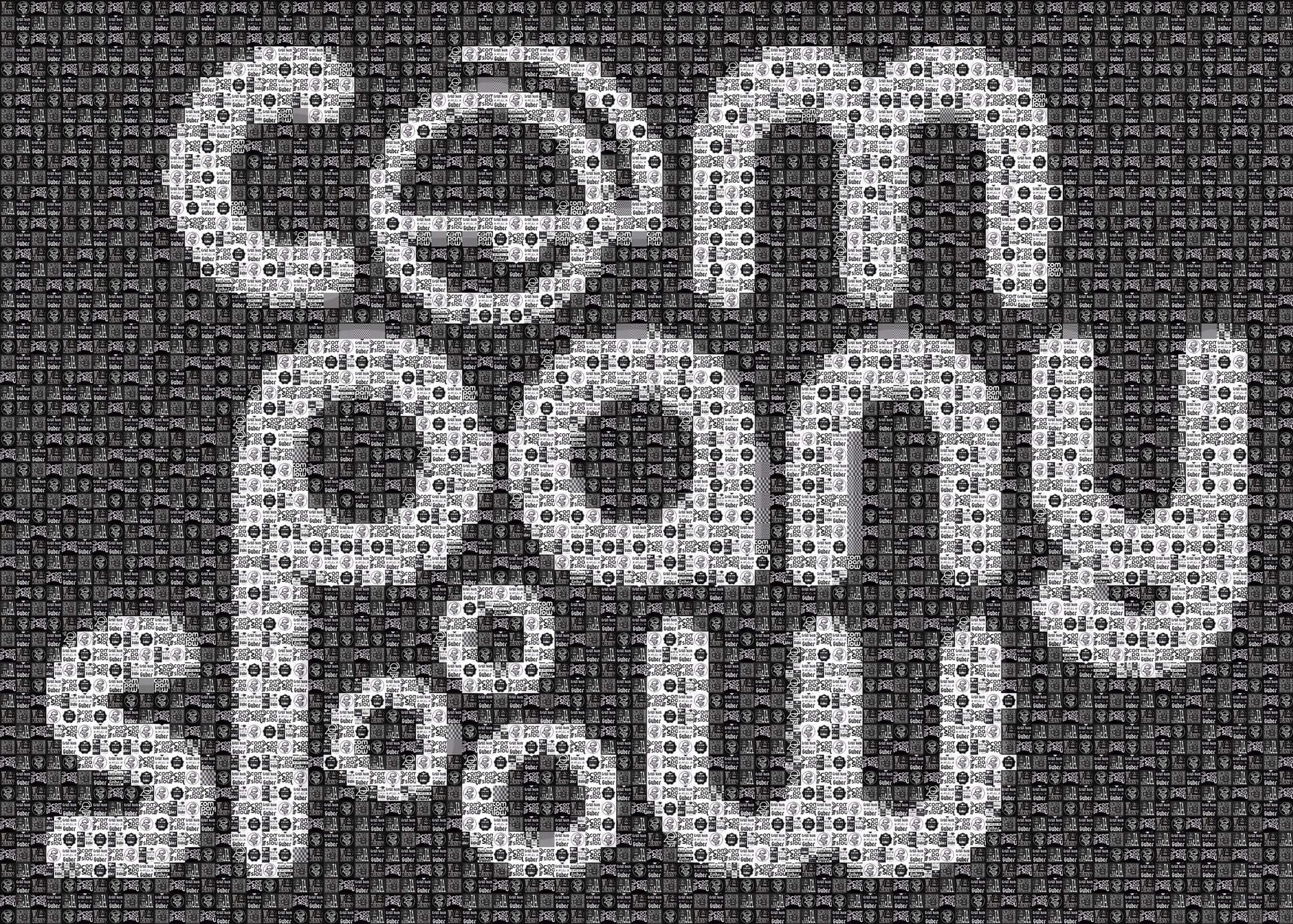 "Pixel Art, Mosaik, Sticker, ""Company Slow"" Schrift inkl. Logo"